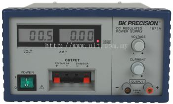 Triple-Output 30V, 5A Digital Display DC Power Supply Model 1671A
