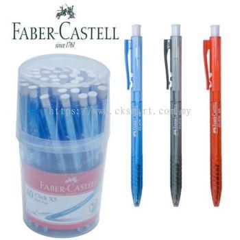 FABER-CASTELL CLICK X5 BALL PEN 0.5MM