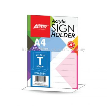 A4 ACRYLIC SIGN HOLDER T-SHAPE