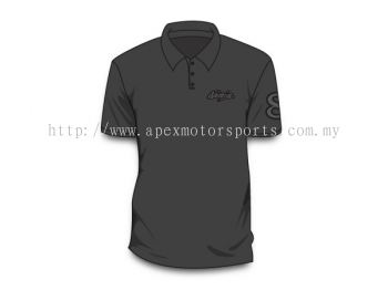 Men Polo Tee Black No.8
