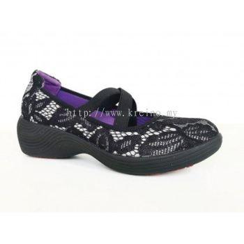 MSP199-26 Black Shinning Medifeet Biowalk Shoe (RM339)