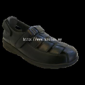 MP153-6 Black Medifeet Men's Comfort Shoe