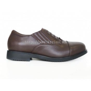 M048-4 Boston Men Shoe Invisible Lace Brown (RM299)
