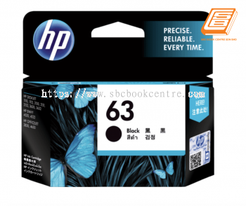 HP - 63 Black Ink Cartridge (Original)