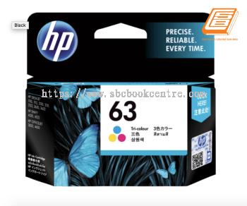 HP - 63 Tri-Colour Ink Cartridge (Original)
