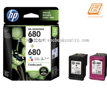 HP - Combo-Pack 680 Black + 680 Colour Ink Cartridge (Original)