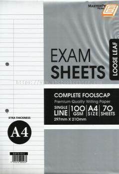 Masterprint - A4 Exam Sheets 100 gsm, 70��S - (ES7010-3)
