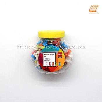 Deli - Push Pin 23mm,100pcs - (0054)