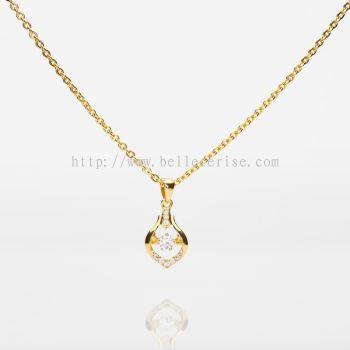 Heartbeat Pendant (916 Gold)