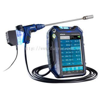 WOHLER A 550 INDUSTRIAL FLUE GAS ANALYZER WITH O2/ NO/ CO(HIGH)/ NO2/ SO2
