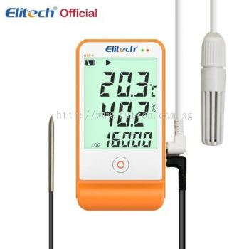 ELITECH GSP-6 TEMPERATURE & HUMIDITY DATA-LOGGER FOR REFRIGERATION & COLD-CHAIN