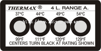 THERMAX 4 LEVEL TEMPERATURE STRIPS