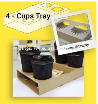 4 Cups Paper Tray