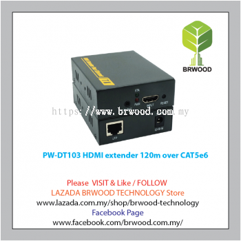 PWAY PW-DT103: HDMI Extender Over LAN, CAT5e/6 Cable Up to 120m, IR
