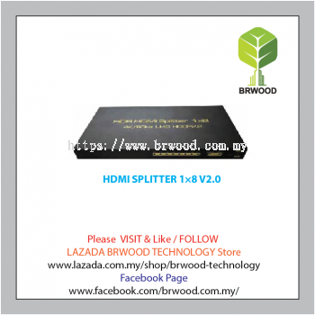 Vision Tec HDMI SPLITTER 1��8 V2.0 - TW-HDMI-HDSP008M1