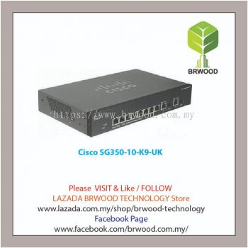 Cisco SG350-10-K9-UK: 10-port Gigabit Managed Switch