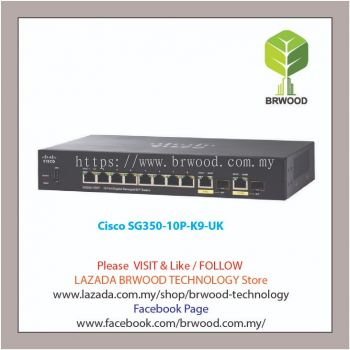 Cisco SG350-10P-K9-UK: 10-port Gigabit POE Managed Switch
