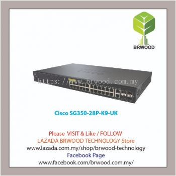 Cisco SG350-28P-K9-UK: 28-port Gigabit POE Managed Switch