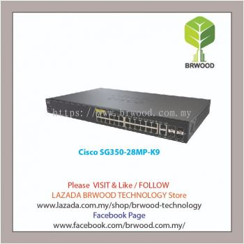 Cisco SG350-28MP-K9-UK: 28-port Gigabit POE+ Managed Switch