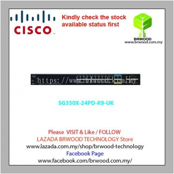 Cisco SG350X-24MP-K9UK: 24-Port 2.5G PoE Stackable Managed Switch
