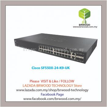 Cisco SF550X-24-K9-UK:  24-port 10/100  Stackable Switch