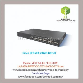 Cisco SF550X-24MP-K9UK: 24-port 10/100 PoE+  Stackable Switch