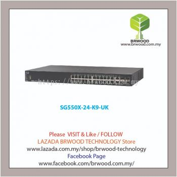 Cisco SG550X-24-K9-UK: 24-port Gigabit Stackable Switch