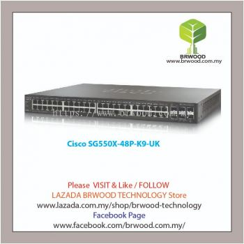 Cisco SG550X-48P-K9-UK: 48-port Gigabit PoE Stackable Switch