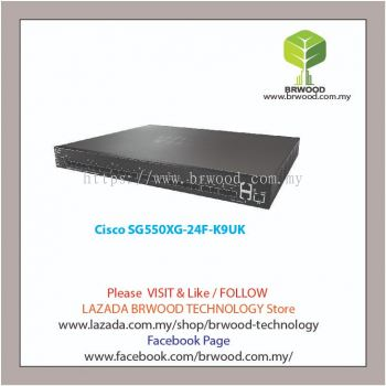 Cisco SG550XG-24F-K9UK: 24-Port 10G SFP+ Stackable Managed Switch