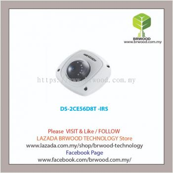 HIKVISION DS-2CE56D8T -IRS: 2 MP Ultra-Low Light Dome Camera w/microphone