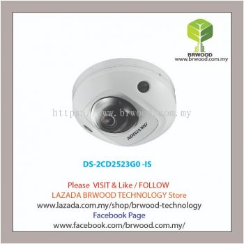 HIKVISION DS-2CD2523G0 -IS: 2 MP IR Fixed Mini Dome Network Camera w/ Mic