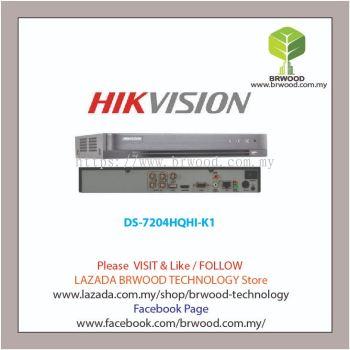 HIKVISION DS-7204HQHI-K1: Turbo HD 4CH Full HD H.265 / H.265+ Compression Digital Video Recorder(DVR)