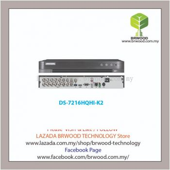 HIKVISION DS-7216HQHI-K2: Turbo HD 16CH Analog 2MP H.265 / H.265+ Compression Full HD c/w 2 HDD Slot Digital Video Recorder