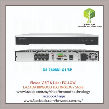 HIKVISION DS-7608NI-Q1/8P: 8CH 8MP resolution Plug and Play Full HD IP Network Video Recorder(NVR) with 8 PoE