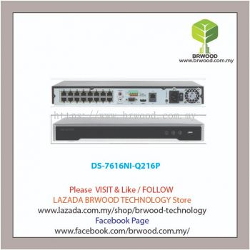 HIKVISION DS-7616NI-Q216P: 8CH 8MP 4K PLUG AND PLAY IP NETWORK VIDEO RECORDER (NVR) C/W 16 PoE
