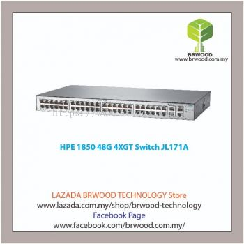 HPE JL171A: OfficeConnect 1850 48G 4XGT 48 port 10/100/1000 Mbps c/w 4x10GBaseT Switch