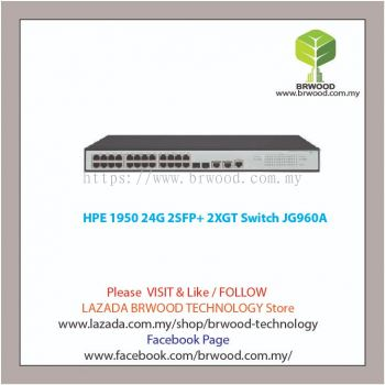 HPE JG960A: OfficeConnect 1950 24G 2SFP+ 2XGT 24 port 10/100/1000 Mbps c/w 2 SFP 2 10GBase-T Switch