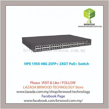 HPE JG963A: OfficeConnect 1950 48G 2SFP+ 2XGT PoE+ 48 PORT 10/100/1000 MBPS PoE/PoE+ C/W 2XSFP 2x10GBase-T L3 Switch