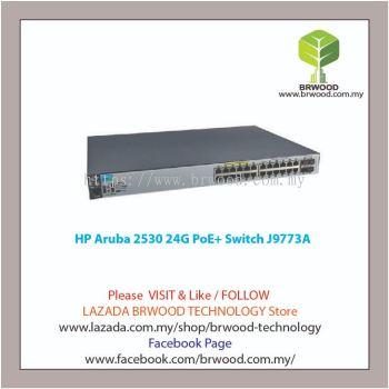 HP Aruba J9773A: Aruba 2530 24G PoE+ 24 port 10/100/1000 Mbps PoE+ c/w 4xSFP Switch