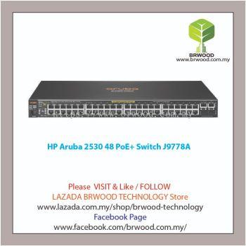 HP Aruba J9778A: Aruba 2530 48 PoE+ 48 port 10/100 Mbps PoE+ c/w 2xSFP 2xGBase-T Switch