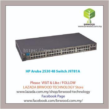 HP Aruba J9781A: Aruba 2530 48 48 port 10/100 Mbps c/w 2xGBase-T 2xSFP Switch