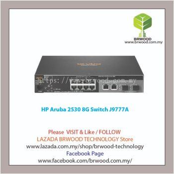 HP Aruba J9777A: Aruba 2530 8G 8 port 10/100/1000 Mbps c/w 2x GBase-T 2x SFP Switch