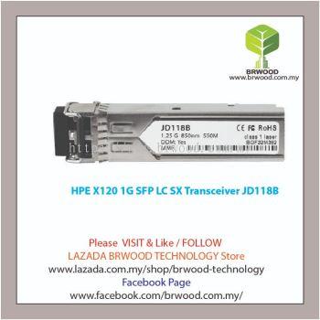 HPE JD118B: X120 1G SFP LC SX Transceiver