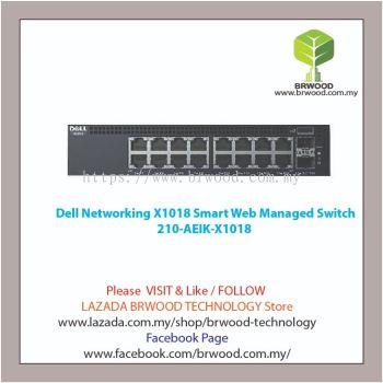 Dell 210-AEIK-X1018: X1018 16 port 10/100/1000 Mbps c/w 2x1GB SFP Smart Web Managed Switch