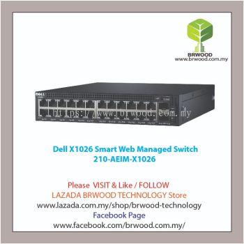 Dell 210-AEIM-X1026: X1026 24 port 10/100/1000 Mbps c/w 2x1GB SFP Smart Web Managed Switch