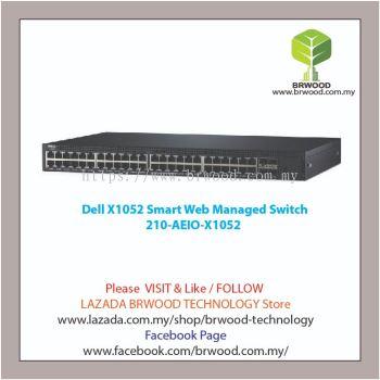 Dell 210-AEIO-X1052: X1052 48 port 10/100/1000 Mbps c/w 4x1GB SFP Smart Web Managed Switch
