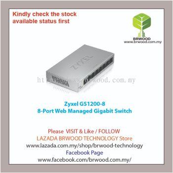 Zyxel GS1200-8: 8-Port Web Managed Gigabit Switch