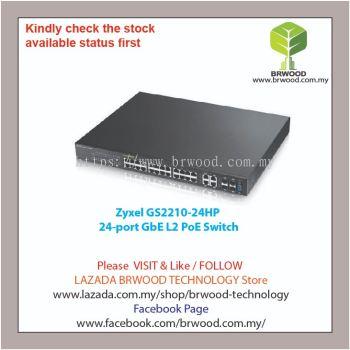 Zyxel GS2210-24HP: 24-port GbE L2 PoE Switch