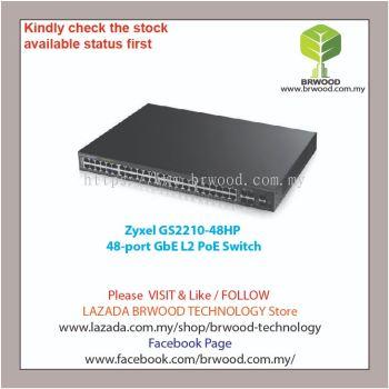 Zyxel GS2210-48HP: 48-port GbE L2 PoE Switch