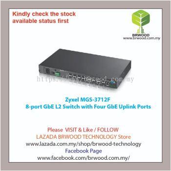 Zyxel MGS-3712F: 8-port GbE L2 Switch with Four GbE Uplink Ports